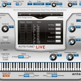 Antares Auto-Tune Live Pitch Correction Software
