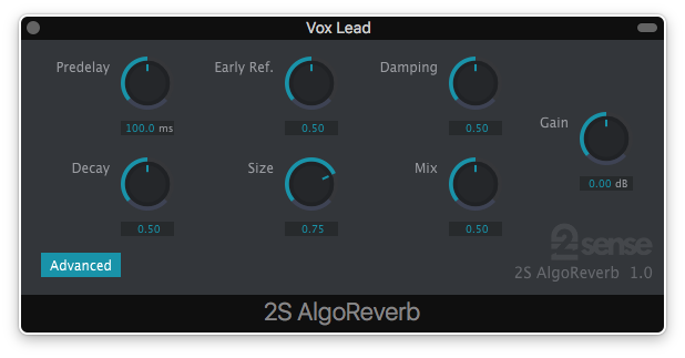 AlgoReverb by 2nd Sense (Electronic Delivery)